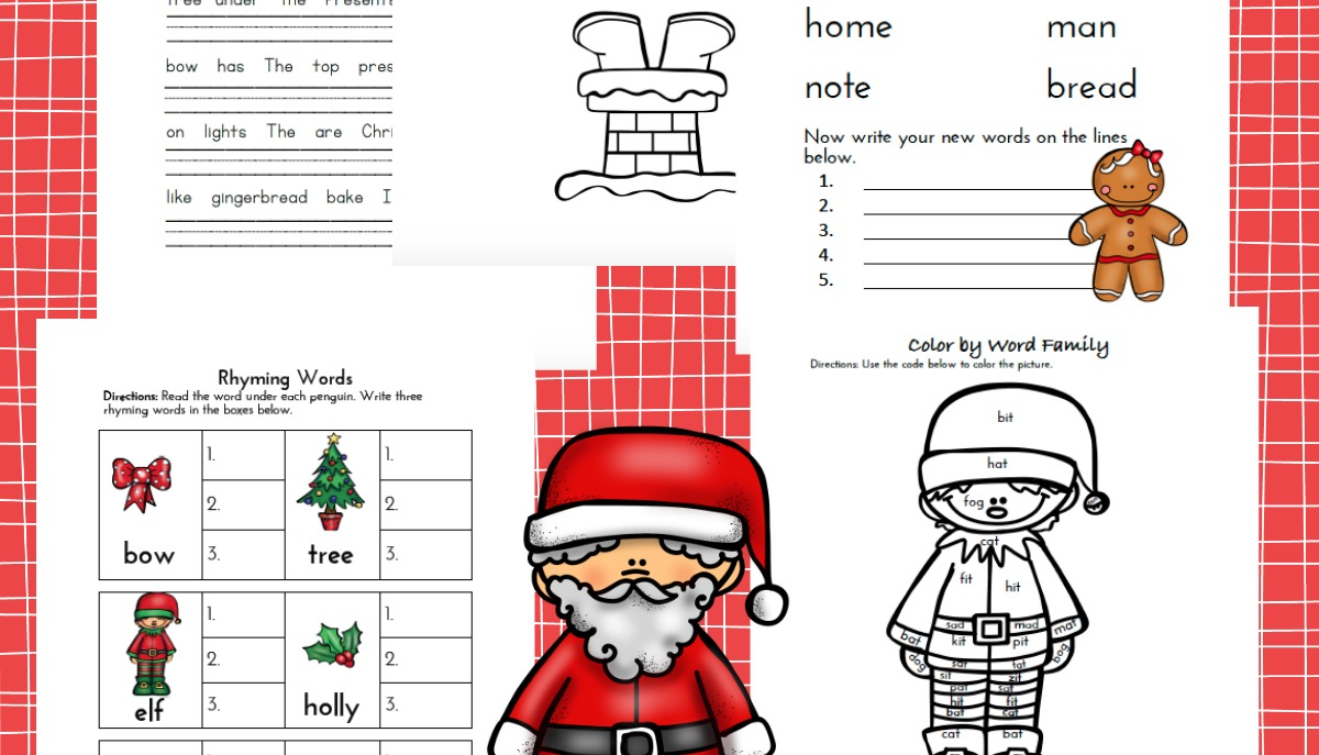 Free Christmas Language Arts Pack for K-3