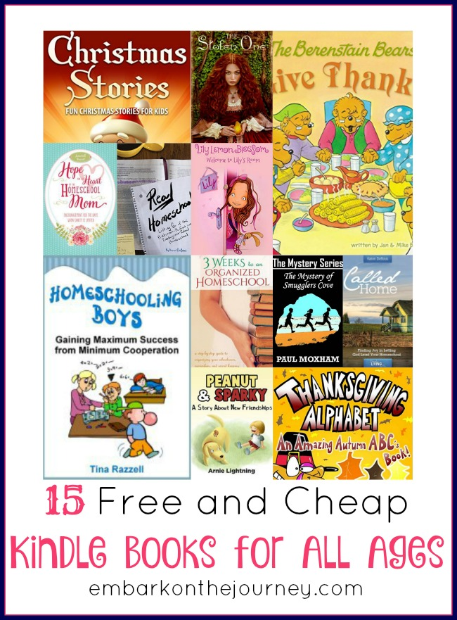 15 Free and Cheap Kindle Books for Readers of All Ages | embarkonthejourney.com