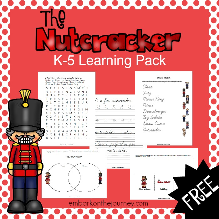 It's Nutcracker season in our house! In honor of our upcoming performances, I've created this 70+ page Nutcracker printable learning pack for you! | embarkonthejourney.com
