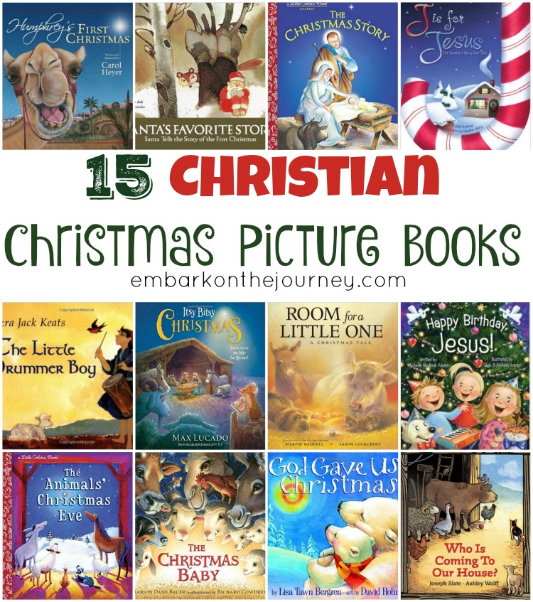 We keep a mix of Santa books and Baby Jesus stories in our Christmas book basket. Here are 15 Christian Christmas picture books for you to explore with your little ones. | embarkonthejourney.com