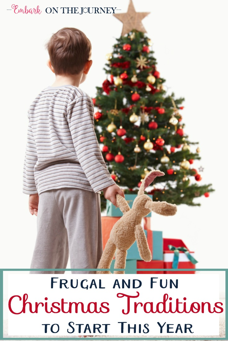 We look forward to the Christmas season all year long. We have six fun and frugal Christmas traditions that you could start this year with your own family. | embarkonthejourney.com
