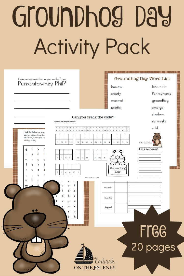 Your kids will enjoy completing these Groundhog Day activities during your winter homeschooling! | embarkonthejourney.com