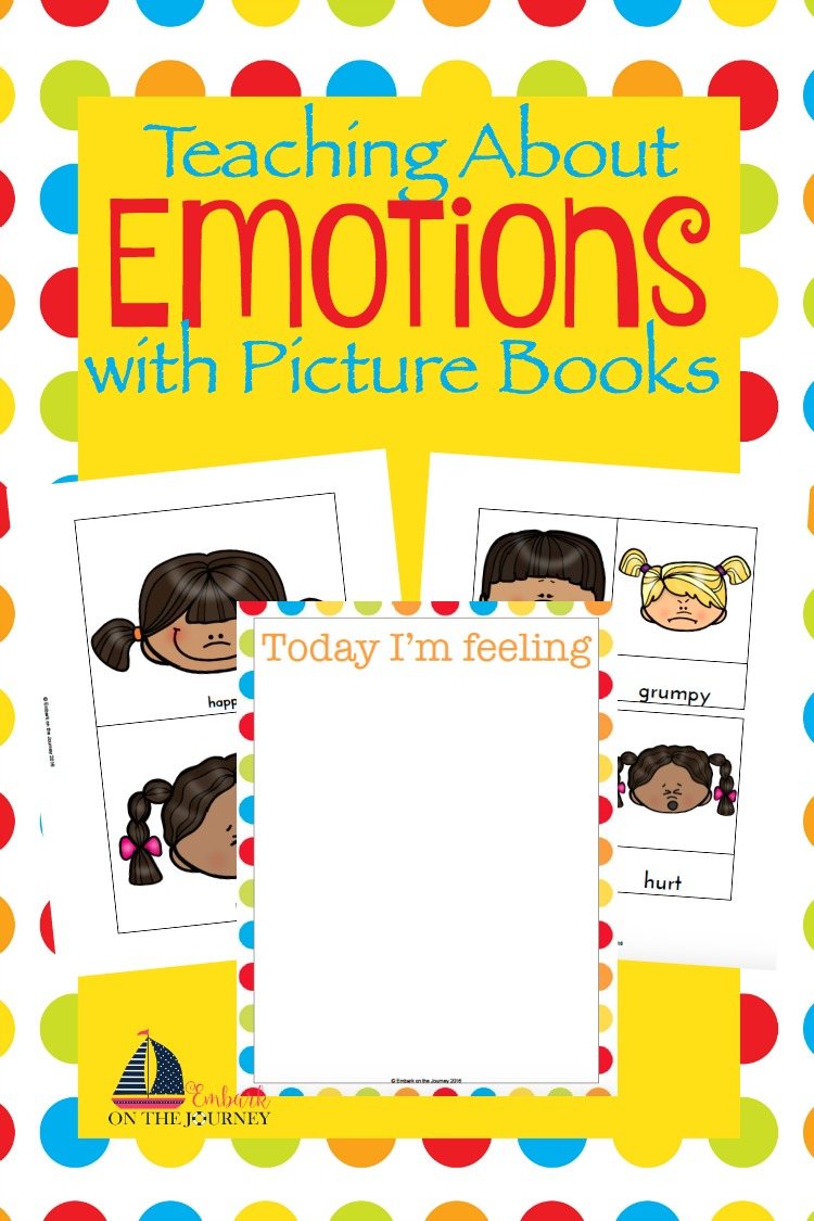 Oftentimes, little ones have a hard time expressing their emotions. Using picture books and my free printables, you can facilitate some wonderful conversations with your little ones about how they're feeling. | embarkonthejourney.com