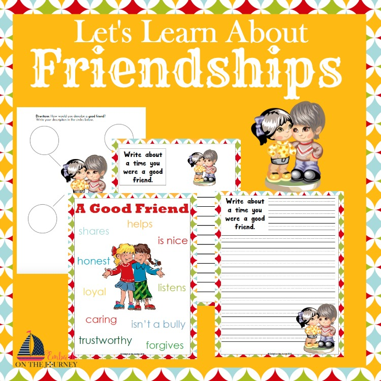 Use these free activity pages to discuss what makes good friends with your students. | embarkonthejourney.com