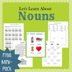 This free mini-pack is a great addition to your grammar lessons. Introduce or reinforce nouns with these free worksheets. | embarkonthejourney.com
