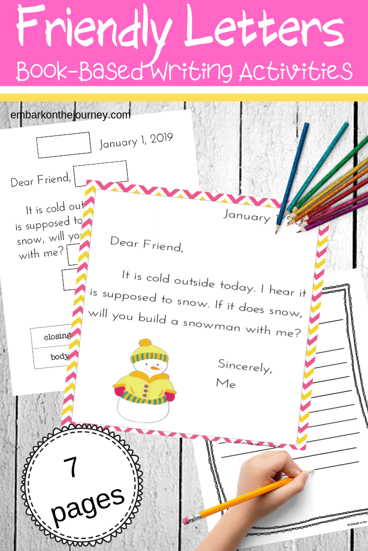 These books and printables are just what you need when teaching friendly letter writing. They're great for elementary kids.
