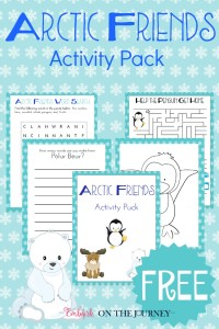 Add a little fun to your wintertime homeschool lessons with this free Arctic Friends activity pack. | embarkonthejourney.com