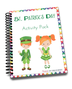 Your kids will feel so lucky when you add this St Patricks Day printable activity pack to your homeschool lessons! | @homeschljourney