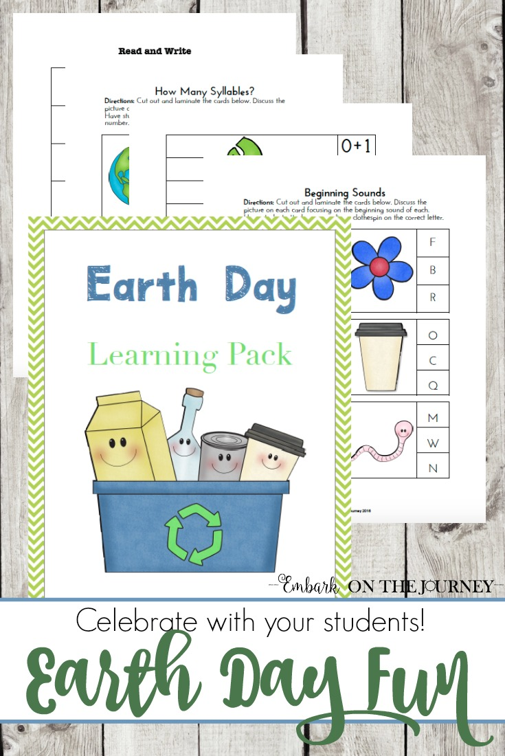 Earth Day is just around the corner! Add this Earth Day printable to your spring homeschool lessons. | embarkonthejourney.com
