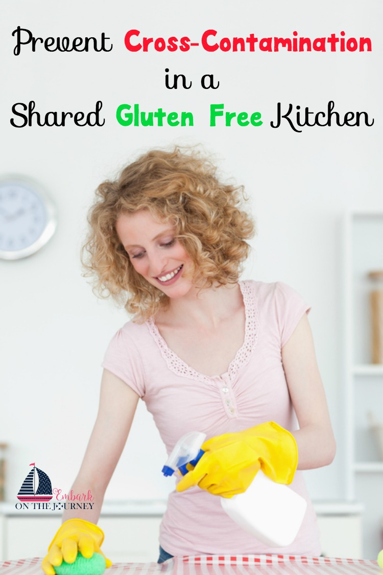 Sharing a gluten free kitchen with those who aren't gluten-free makes things a little more difficult. But, it's not impossible with these 10 tips for preventing cross-contamination in a shared gluten-free kitchen. | embarkonthejourney.com