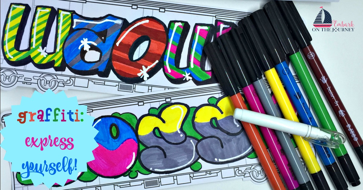 The Djeco Draw Tags art kit from TimberdoodleCo is a fun way to intro kids to a fun new style of art! Check it out! | embarkonthejourney.com