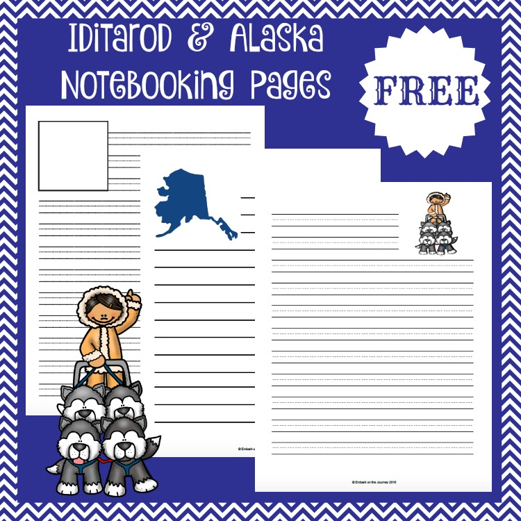 Free Alaska and Iditarod notebooking pages! | embarkonthejourney.com