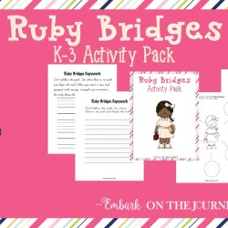 Ruby Bridges Activity Pack for K-3 {20 Pages}