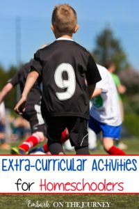 Extra-curricular activities are a great way to round out your child's educational experience. Come check out this list of ideas that your homeschool kids may enjoy! | embarkonthejourney.com