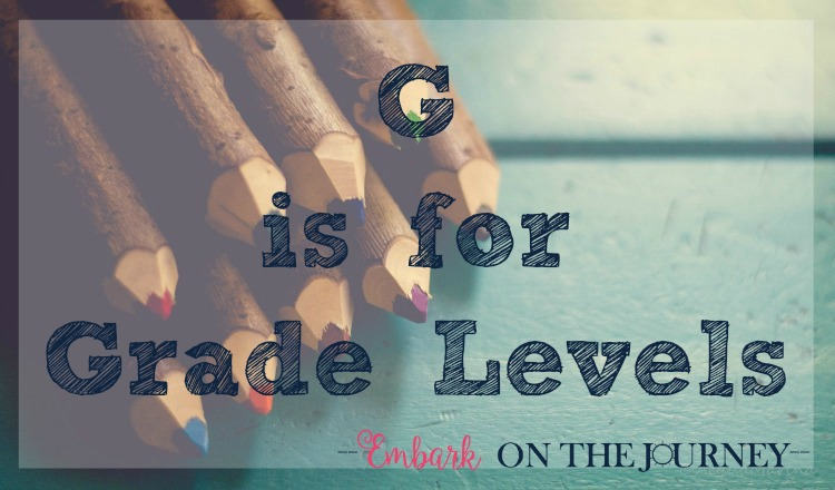 G is for Grade Levels