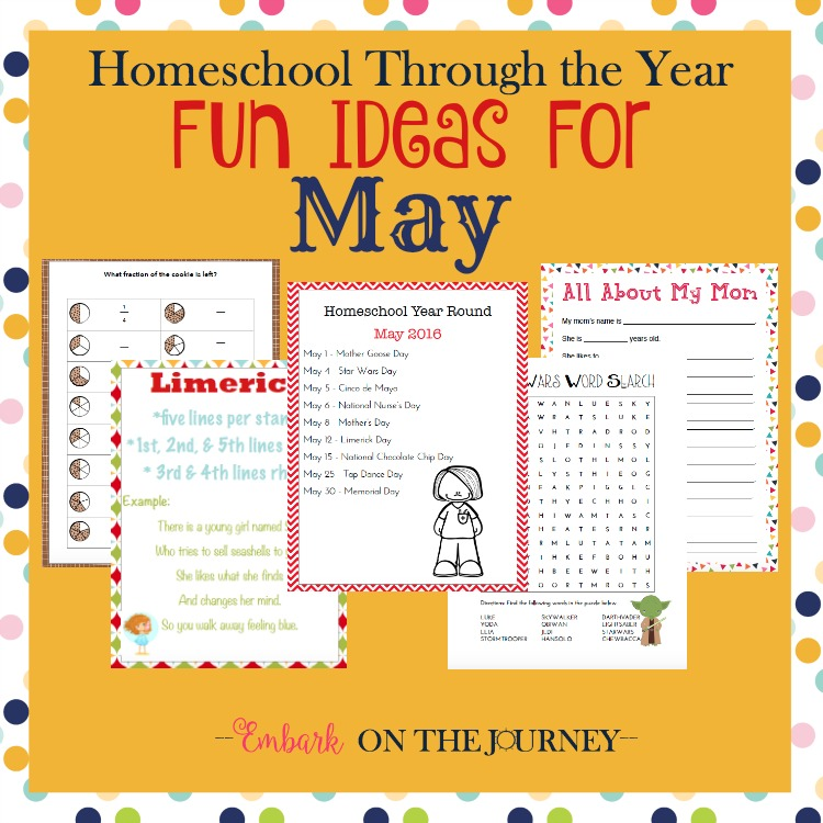 Add some fun studies to your May homeschool lessons with these units, printables, books, and more. | embarkonthejourney.com
