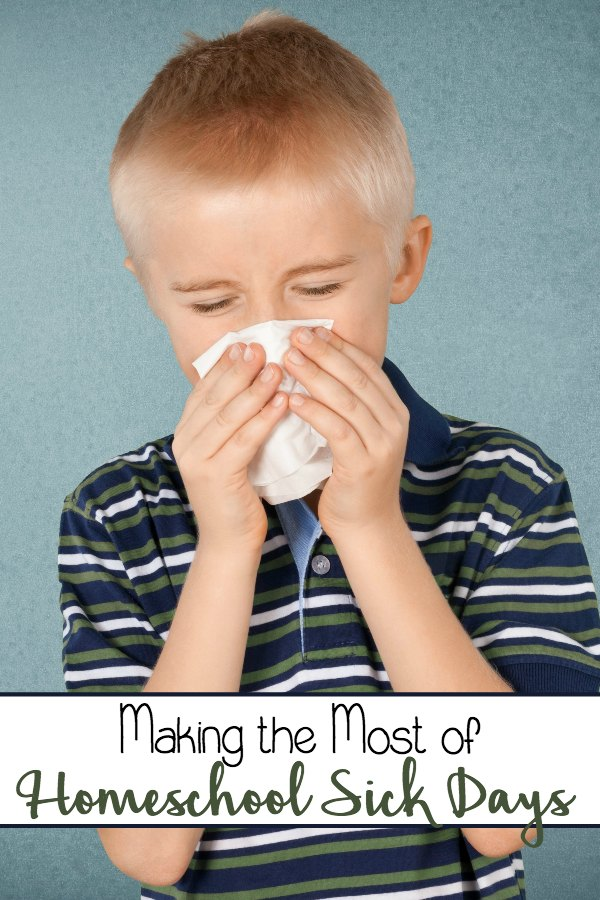 Sick days. They're inevitable. But, they don't have to be a total bust. Here are three ways we make the most of a homeschool sick day. | embarkonthejourney.com