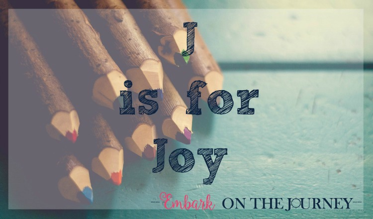 J is for Joy: With so much on our plates, it's easy to get lost in the everyday tasks of being at home - cleaning the house, fixing dinner, homeschooling, etc. How can we readjust our focus and rediscover the joy of homeschooling?   embarkonthejourney.com