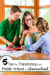 Not all homeschool families start out homeschooling. For various reasons, parents make the decision to homeschool their children. Here are five tips for making the transition from public school to homeschool a little smoother. | embarkonthejourney.com