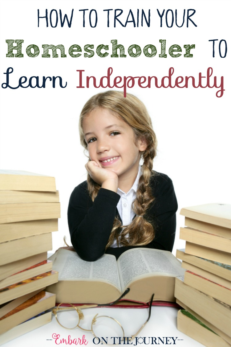 Help foster independence in your homeschool with a few easy steps. | embarkonthejourney.com