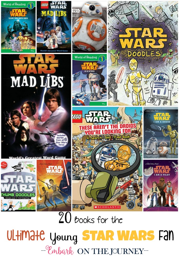 Here is the ultimate list of Star Wars picture books and activity books for young Star Wars fans! | embarkonthejourney.com