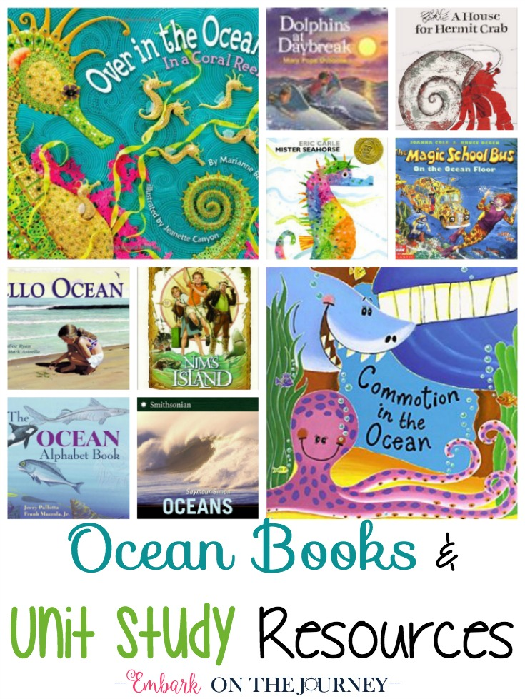 Summer is just around the corner, and these ocean books and resources are perfect for summer unit studies! | embarkonthejourney.com