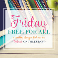 Friday Free for All Link Party #13