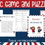 Patriotic Printable Game and Puzzle Pack