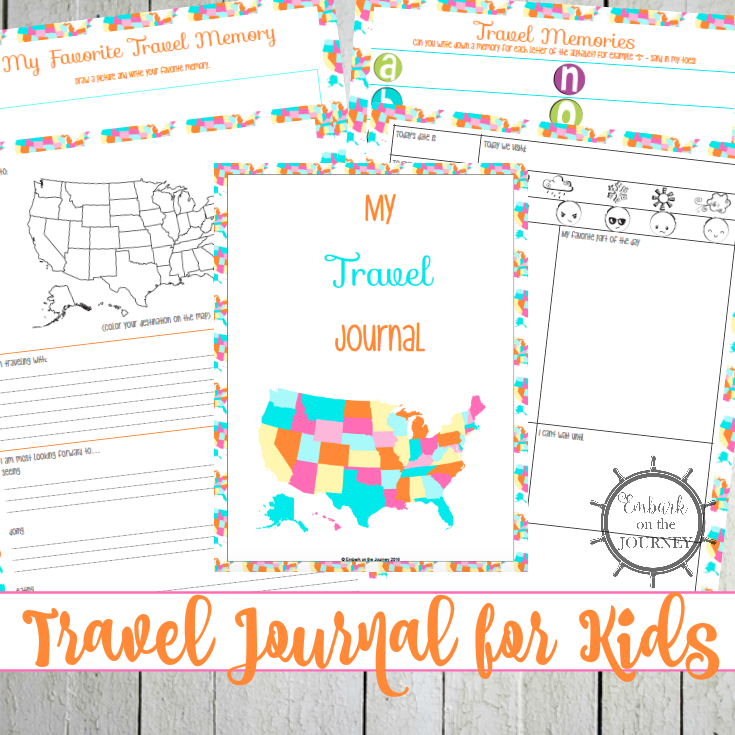 Your kids will love recording their thoughts and memories in this fun travel journal! It'll make a great keepsake for years to come. | embarkonthejourney.com