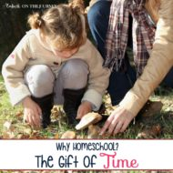 Why Homeschool? The Gift of Time