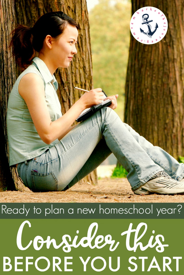 Before I start actually planning our new homeschool year, I like to reflect on the previous year. Here are 4 things I consider before I start planning.