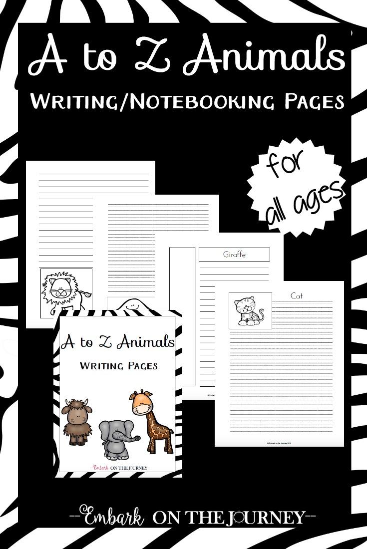 Inspire your learners to write with these fun animal-themed writing pages. These pages are also perfect notebooking pages for your animal-themed unit studies. With 150+ pages, this pack is sure to be a great fit for your homeschool! | embarkonthejourney.com