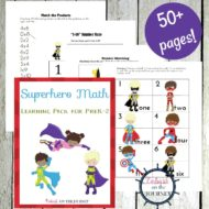 Early Learning Printable Superhero Math Activities