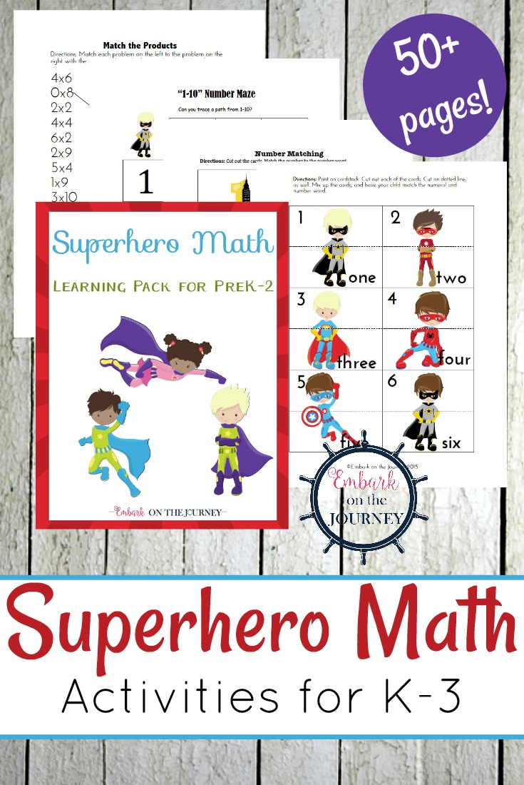 Uncategorized Superhero Printable Activities early learning printable superhero math activities your little learners will love this 52 page super hero freebie for grades prek
