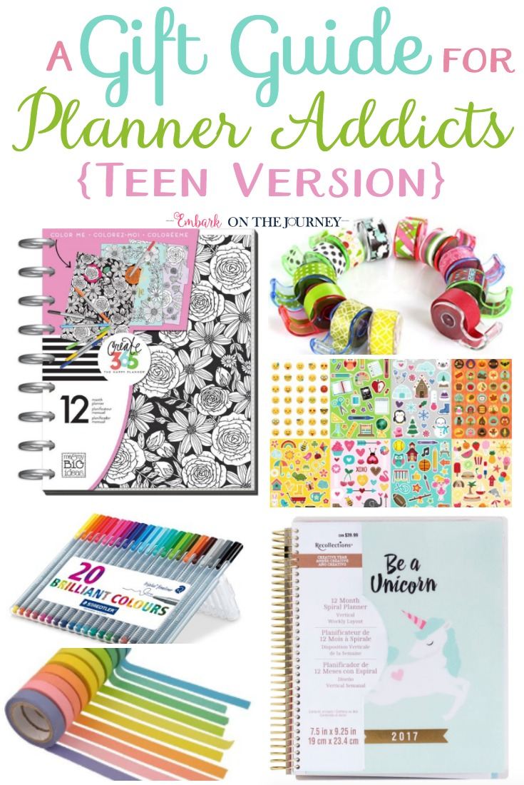 If you have a teen planner addict, you HAVE to check out our favorite supplies! Be sure to check out this gift guide BEFORE you start your Christmas shopping! | embarkonthejourney.com