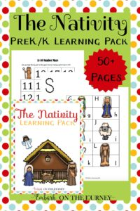Free Nativity printable for preschool and kindergarten! This 50+ page pack will help get your little ones in the holiday spirit. | embarkonthejourney.com