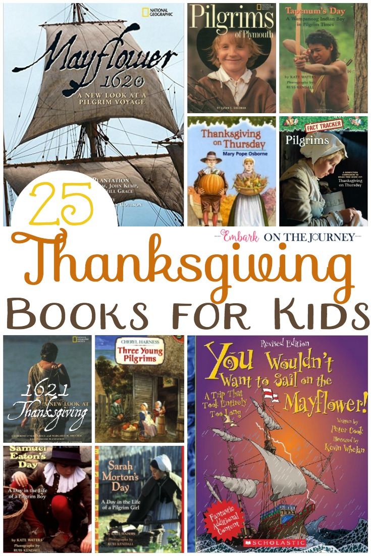 I can't believe it's already time to dig out our Thanksgiving books! Have you started making your Thanksgiving read-aloud list? Have you filled your Thanksgiving book basket? Check out this list of the best Thanksgiving books for kids! | embarkonthejourney.com