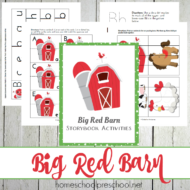 Big Red Barn Activities and Printables