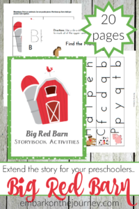"Preschoolers and kindergarteners will love these hands-on activities and free printables to go along with Margaret Wise Brown's ""Big Red Barn!"" 