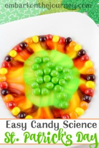 This easy candy science experiment is perfect for St. Patrick's Day! | @homeschljourney