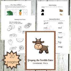Gregory the Terrible Eater Printables and Activities