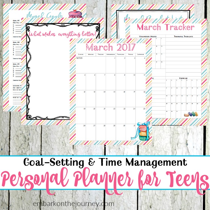 It's important for teens to learn to set goals and manage their time. This can be accomplished with a personal planner for teens. | @homeschljourney