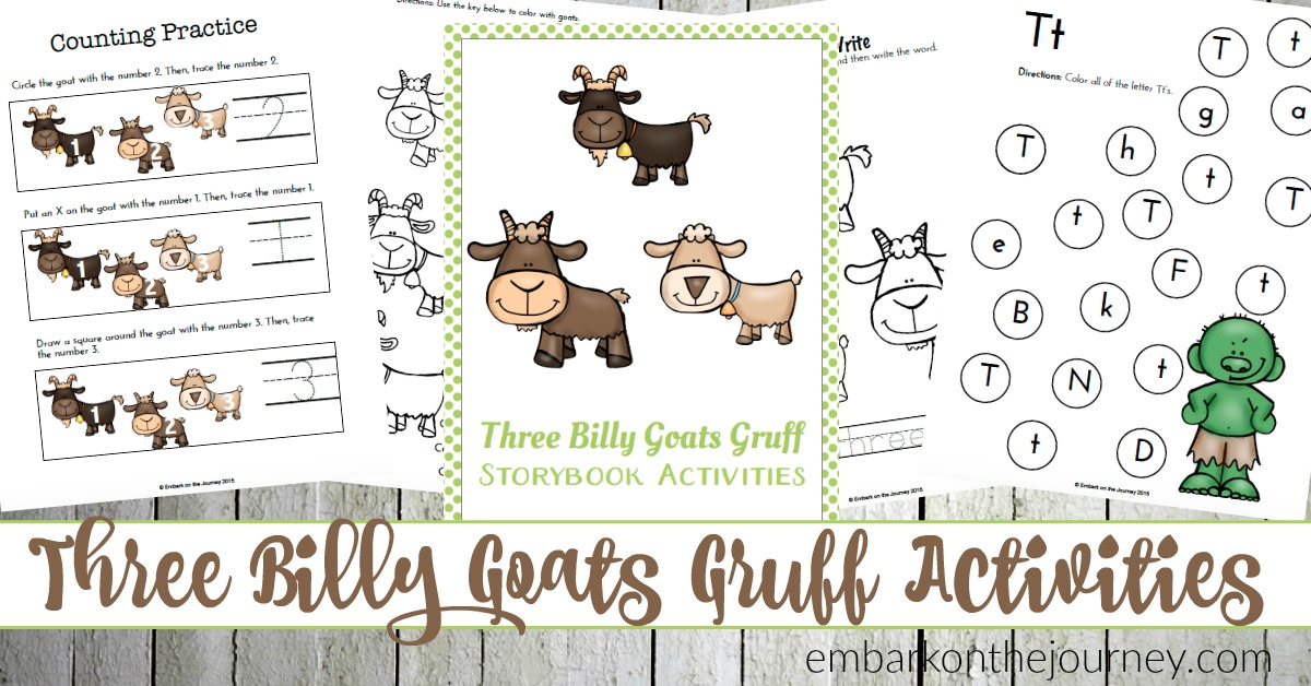 three billy goats gruff printables and activities embark on the journey