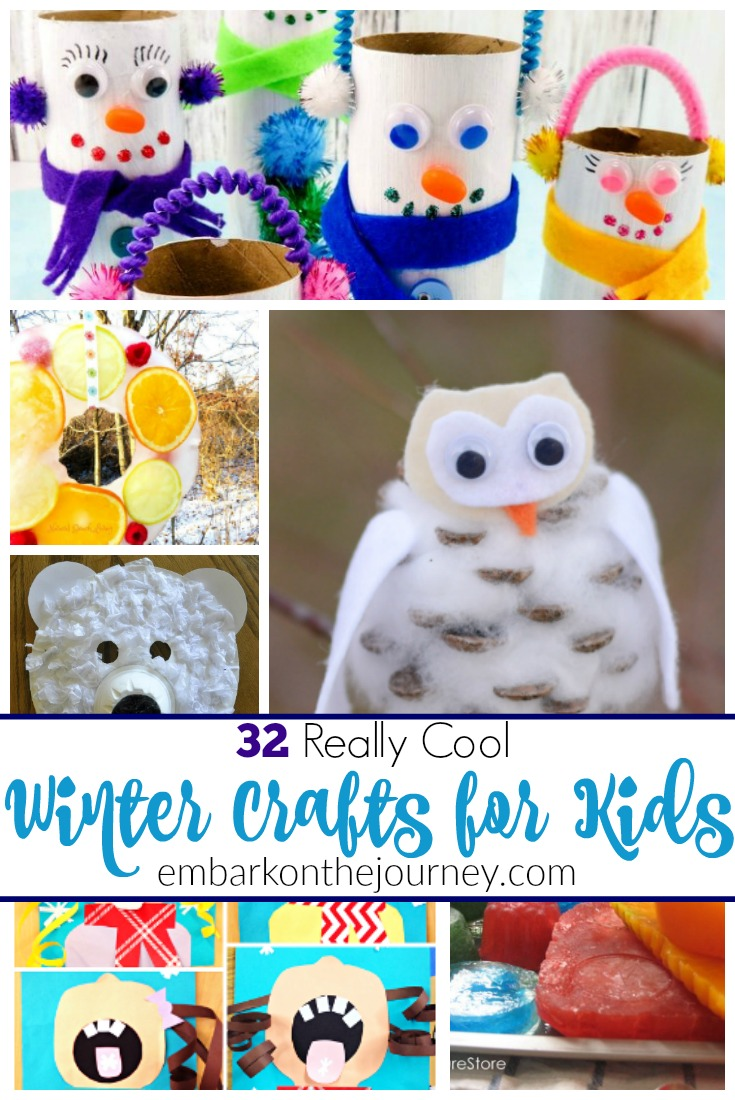 This collection of winter crafts for kids will keep your crew busy during the long, cold winter months! | @homeschljourney.com