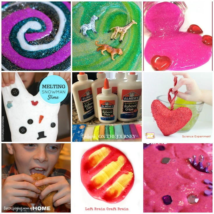 If your kids are as obsessed with slime as mine is, you have to check out this amazing collection of over 35 easy slime recipes for kids! | embarkonthejourney.com