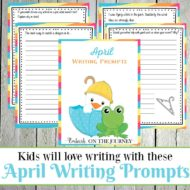 Elementary Writing Prompts for April