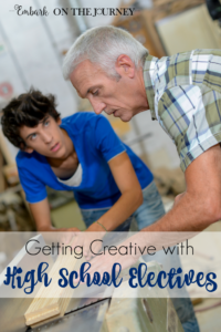 Homeschoolers have a unique opportunity to get creative and think outside the box when it comes to assigning credits for high school electives. Come explore that thought with me.   embarkonthejourney.com