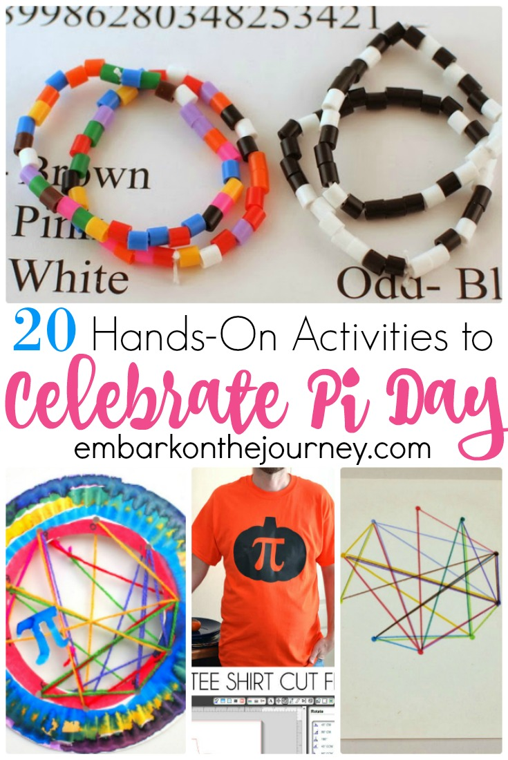 These Pi Day activities and crafts are perfect for your homeschool lessons on March 14! There's an activity on this list for all ages. | @homeschlprek