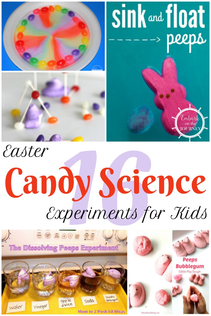 These Easter candy science experiments and activities are a great way to get kids excited about their lessons!