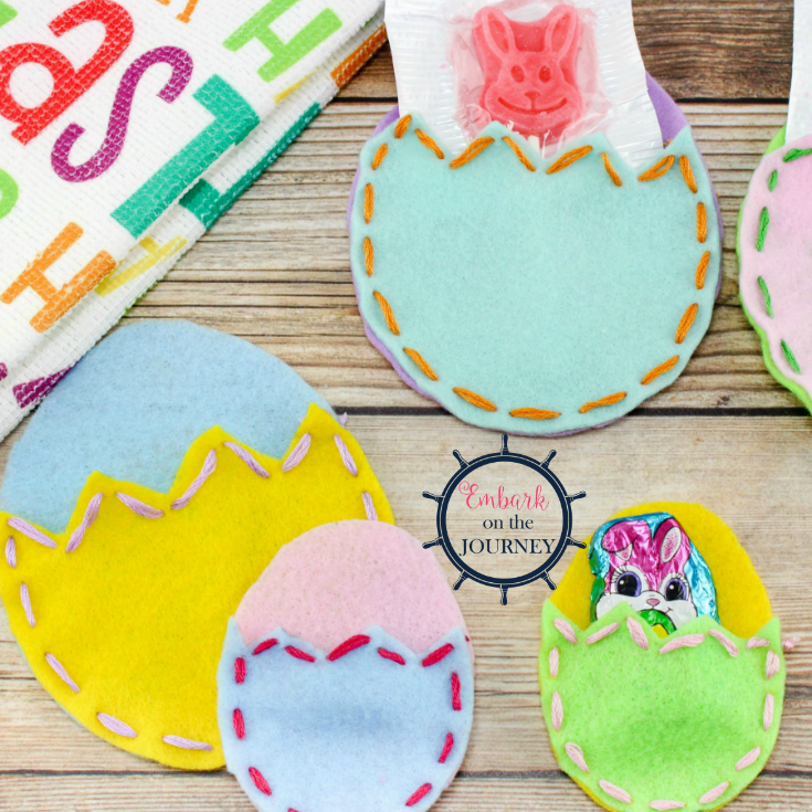 Felt Easter Egg Pouches are an easy Easter craft that kids can create on their own, and they make great Easter gifts they can give to their friends and loved ones.